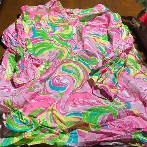Lilly Pulitzer swimsuit coverup.